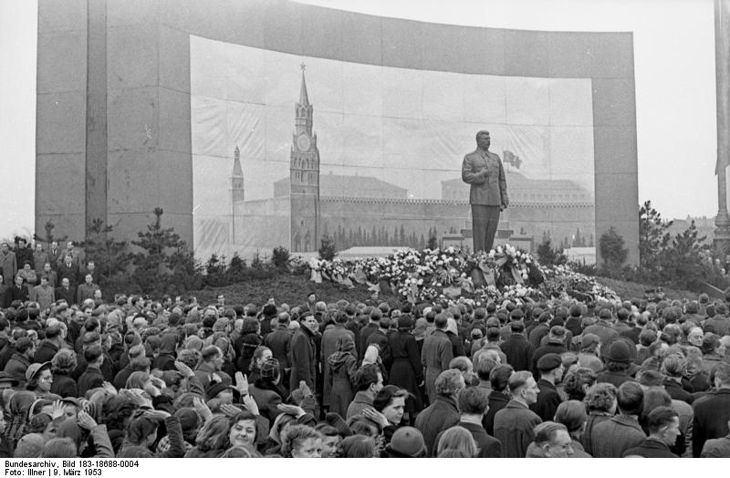 Citizens of Rostock - Germany mourning the death of Joseph Stalin - 10 Mar 1953