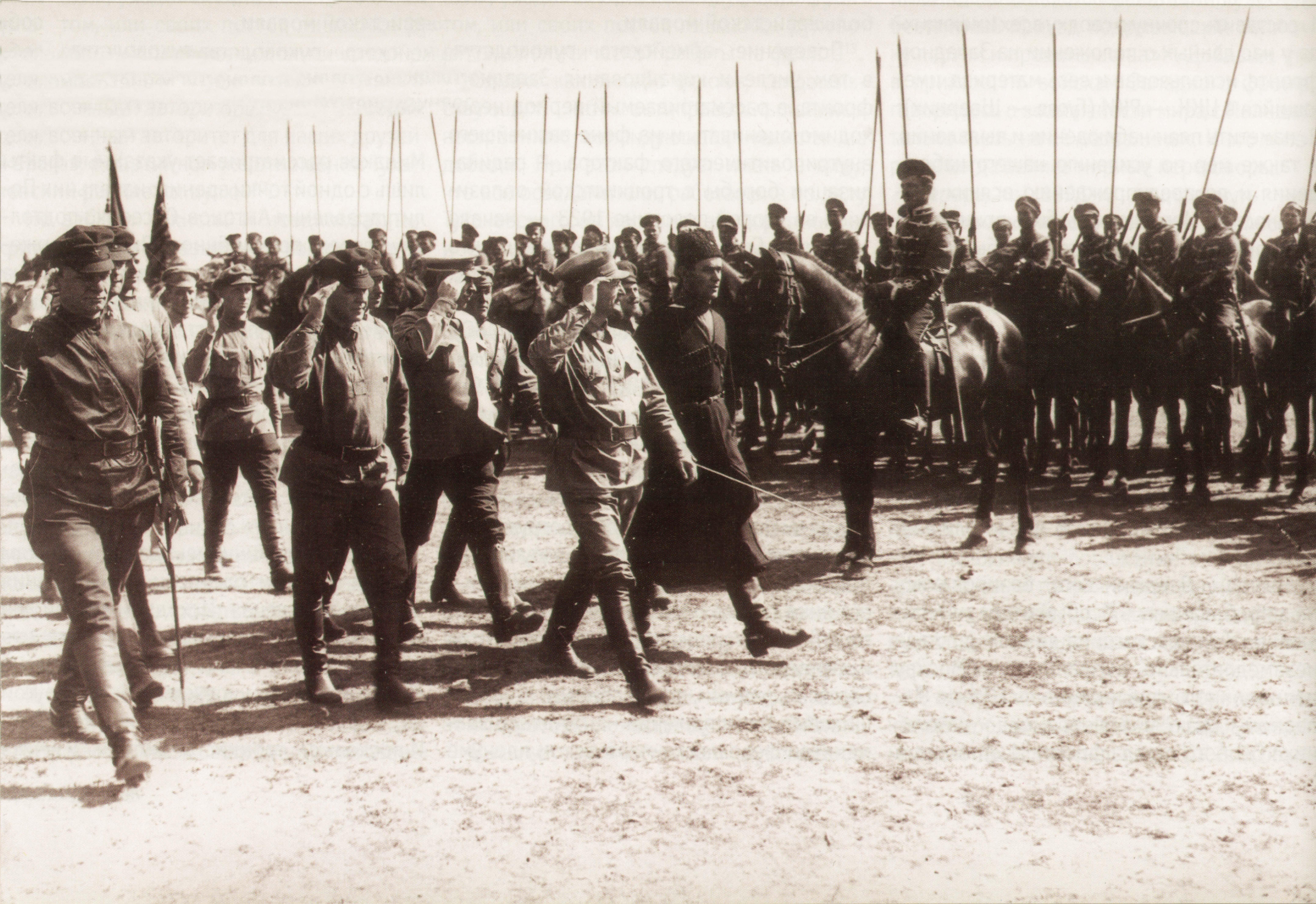 Харьков_Троцкий_Егоров_смотр_1919