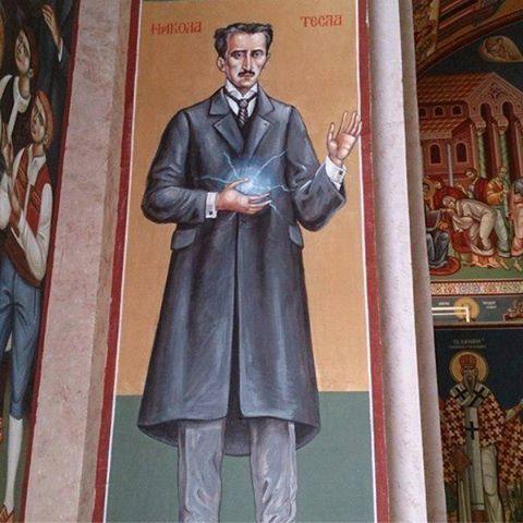 Республика Сербская, город Требине. Настенная роспись в церкви Святого Преображения Господня
