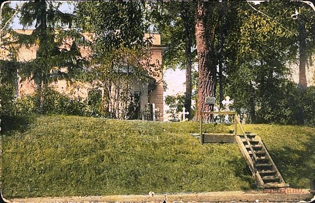 Borodino_Postcard_of_Monastery-Семёновская флешь в 1912 году. Место г