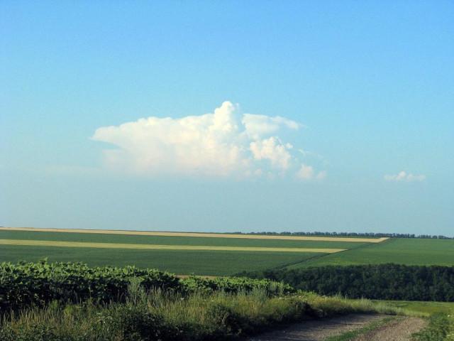 дорога облака Донбасс фото