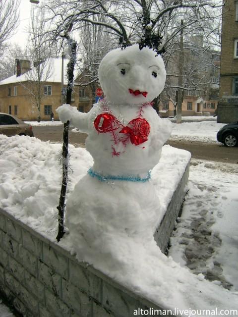 снеговик Донецк Свет счастливой звезды http://altoliman.livejournal.com/
