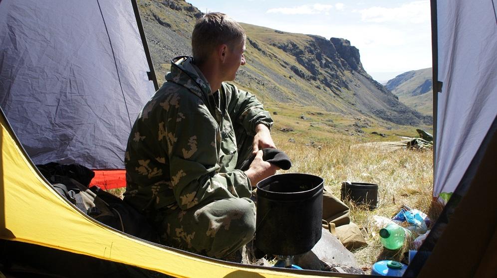 Лагерь в верховьях Кам-Тыты-Кем