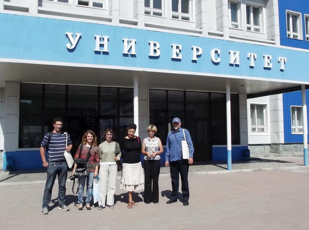 с испанскими коллегами у Горно-Алтайского университета