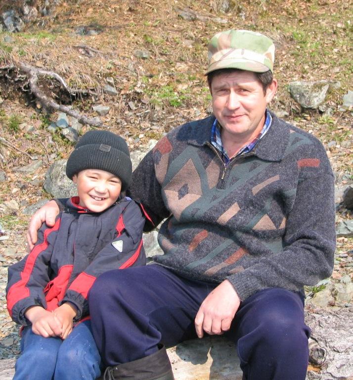 Шаимль Валиевич с младшим сыном Ренатом