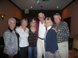 Cissy, Mom, Me, Bill, Marna, and Bob at the Caddy Shack