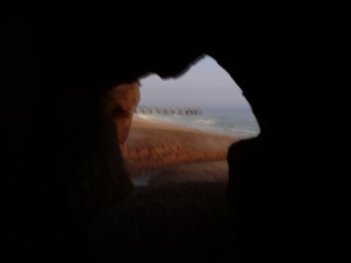 Cave we crawled through on Albufiera shore