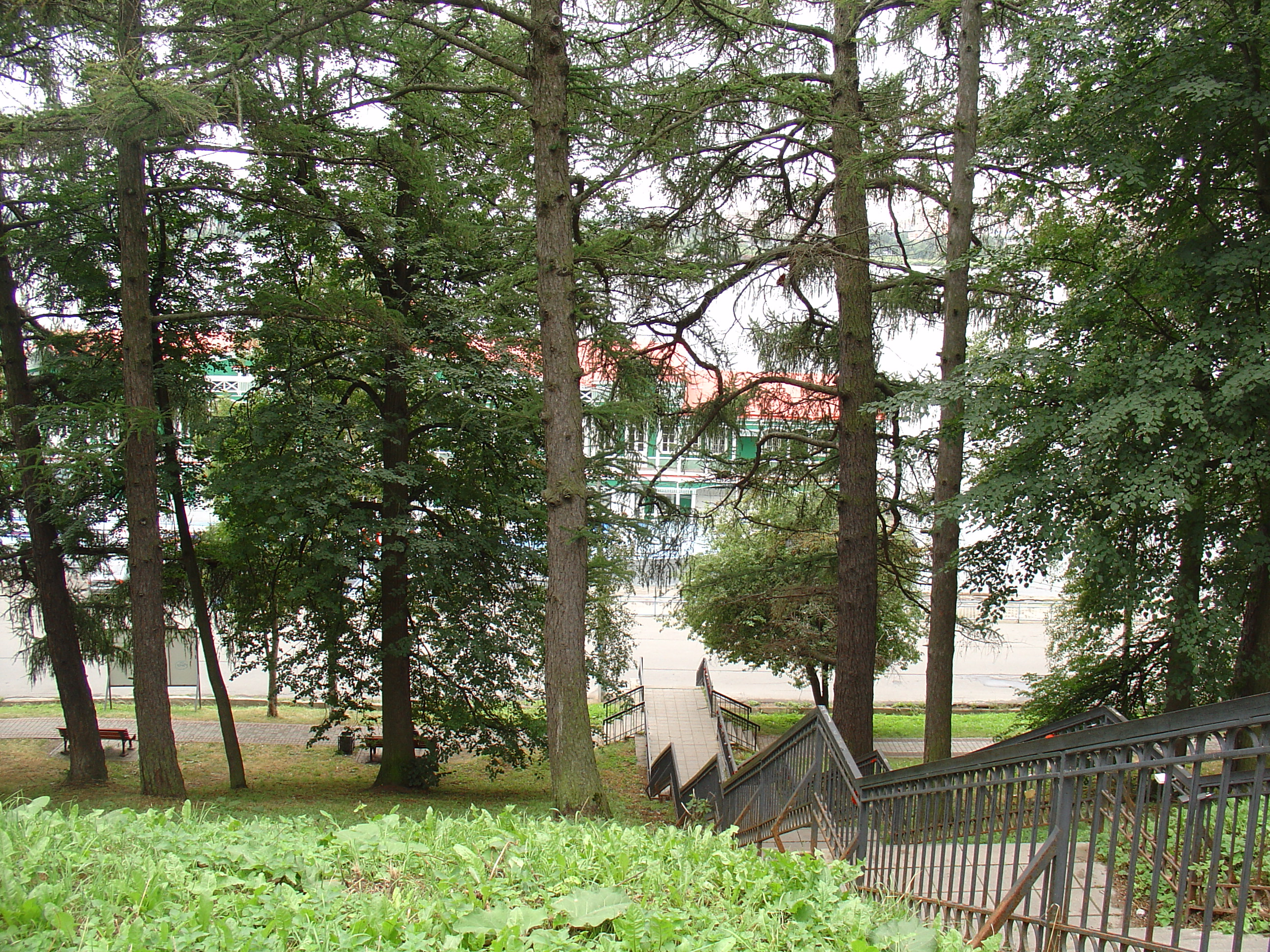 Соборная горка. Лестница к реке