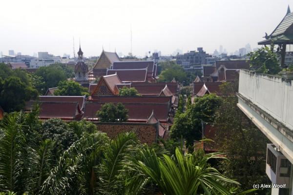 Вид на монастырь ват Чана Сонгхрам