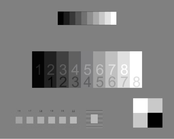 Шкала для настройки гаммы монитора