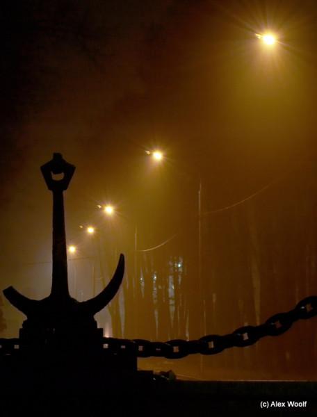 Туман в порту