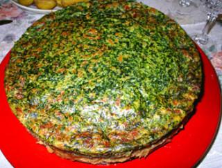 Рецепт пирога карамелизированный луково-шпинатный