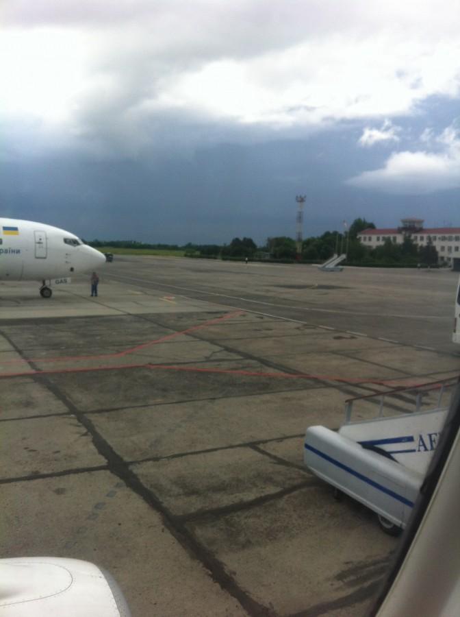 покидая Одессу...   Тучи были весьма угрожающими