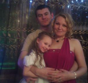 саша с семьей