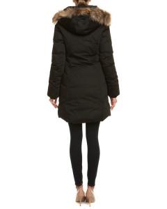 Soia & Kyo Alda Black Down & Fur Trim Coat1.jpg
