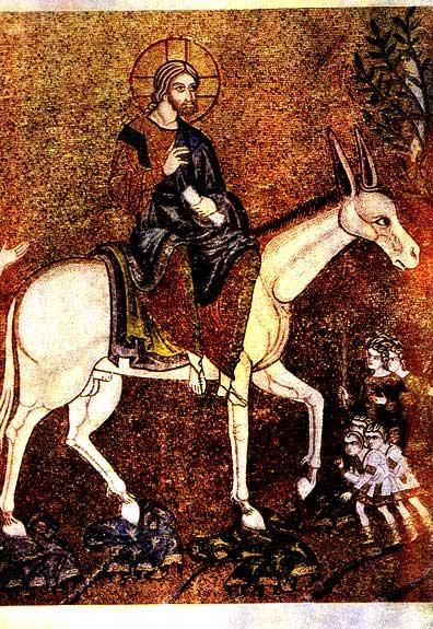 вход в иерусалим 12 век мозаика венеция