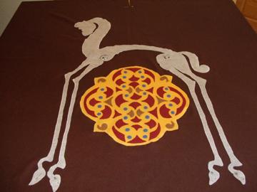horse and enamal motif