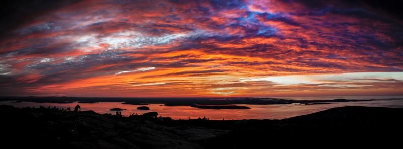Гора Кадиллак, восход солнца. Фото Криса Потако