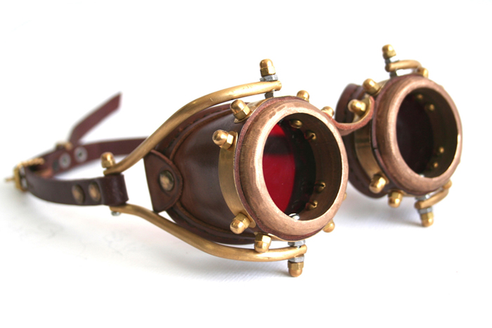 Another solid brass goggles....For sale, as usual ...