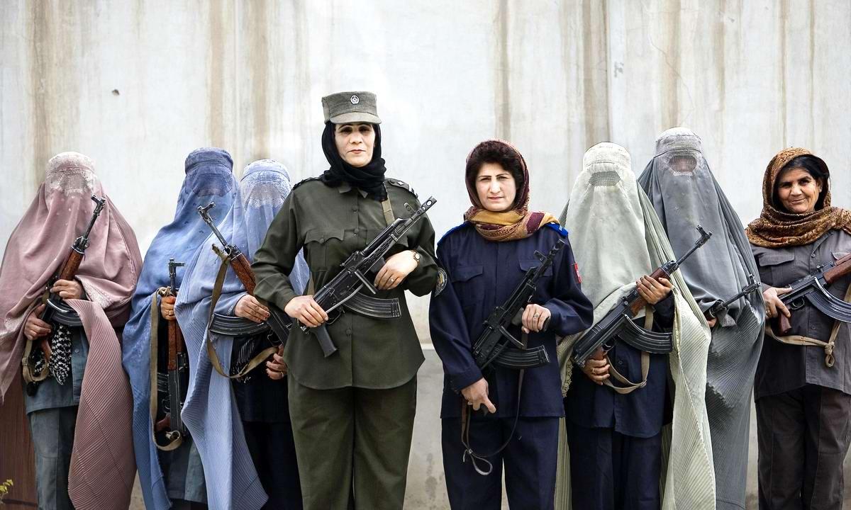 Афганские женщины из спецподразделений МВД Афганистана