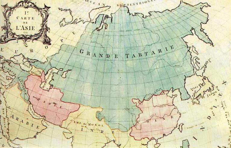 Французская карта Азии XVIII века.