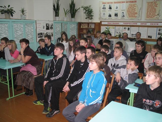 На Амосовском уроке в Мяксинской школе
