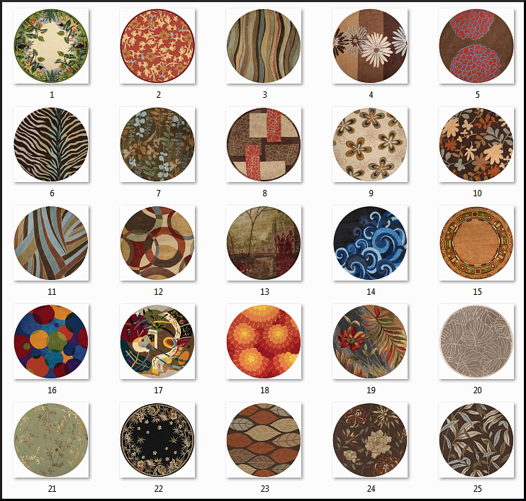 2x2 Round Rug Recolors