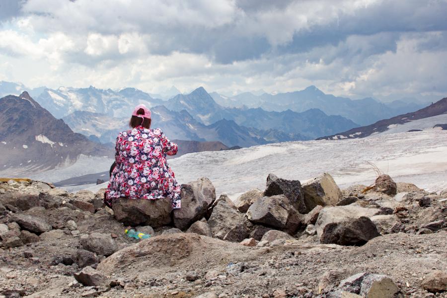 На склоне Эльбруса