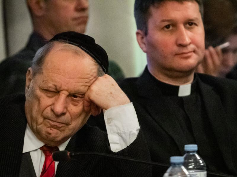 Раввин Зиновий Львович Коган и пастор Виктор Вебер. Фотограф: Петр Данилов