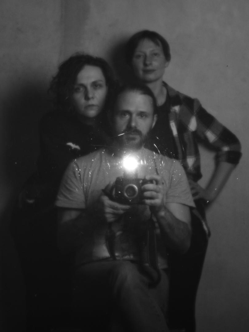 Тройной автопортрет моноклем. Петр Данилов, Наталия Глебкина, Наталия Гречишкина