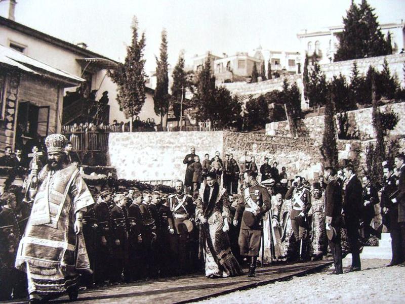 1902 декабрь 4 Ялта 390776 Освящение Собора Александра Невского 4 декабря 1902 года.jpg