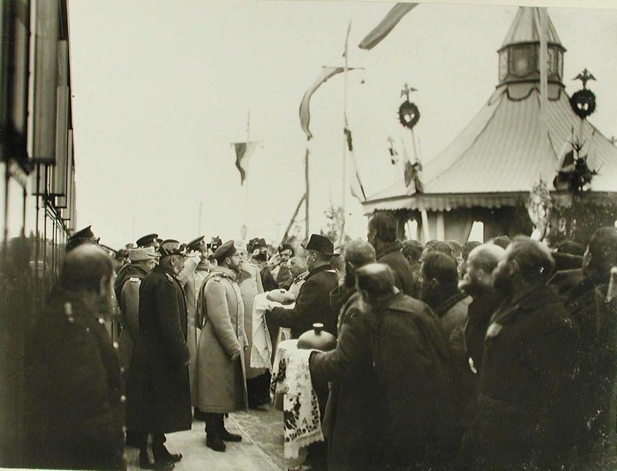 1904 декабрь 19 252899 Прибытие императора Николая II в Жмеринку 19 декабря 1904.jpg