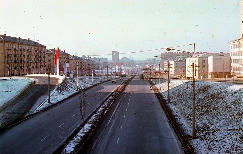 1973 январь  Минск 174141 Партизанский проспект в январе 1973 г. (1).jpg