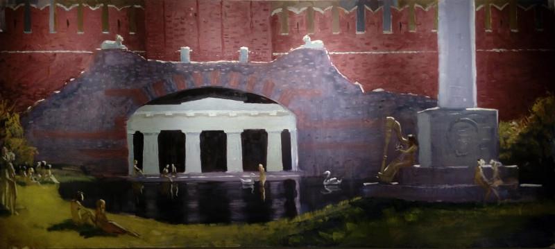Нудисты в Александровском саду