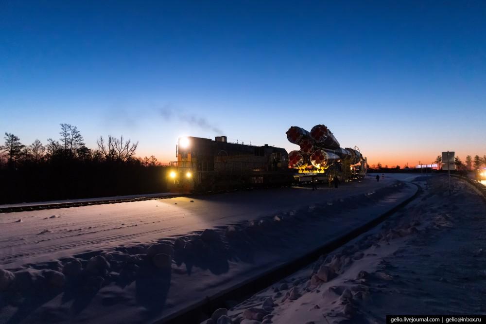 Космодром Восточный запуск ракеты Союз-2.1а 27 декабря 2018