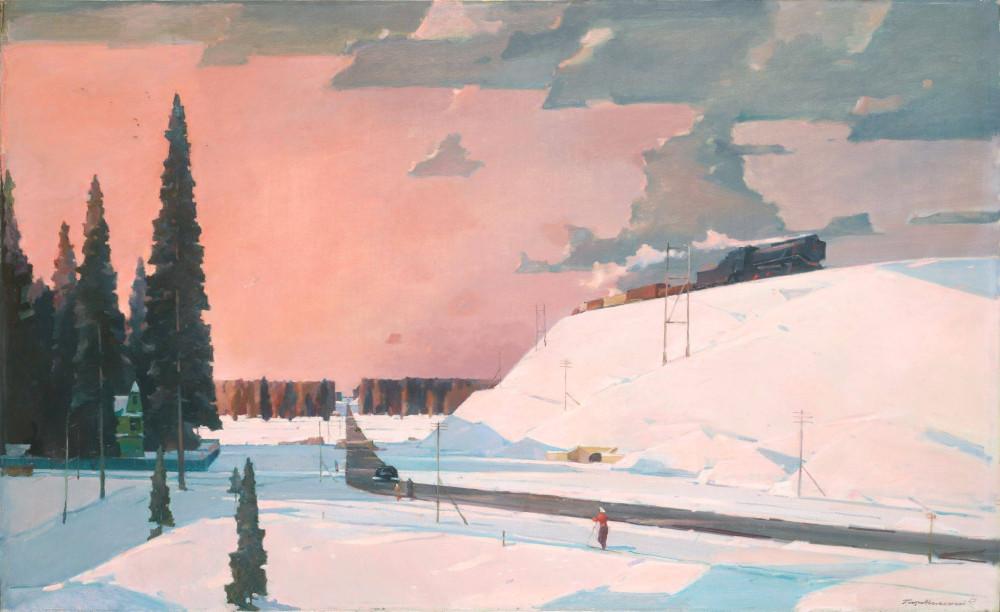 Нисский Георгий Григорьевич (1903-1987) Подмосковье. Февраль 1957
