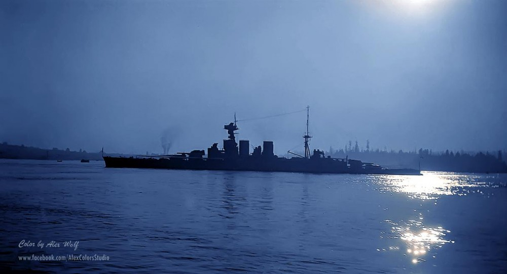 HMS Hood in Vancouver, Canada, 1924