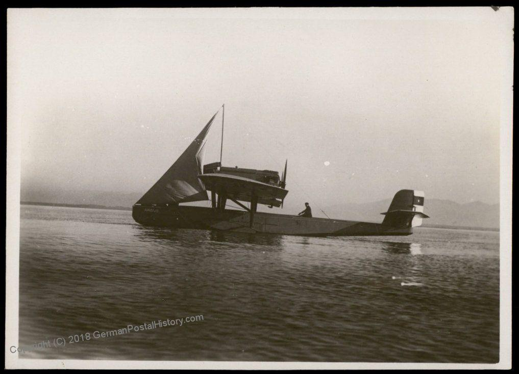 Germany Dornier Wal Airplane With Sail