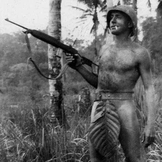 US Marine somewhere in the Pacific Islands, World War II