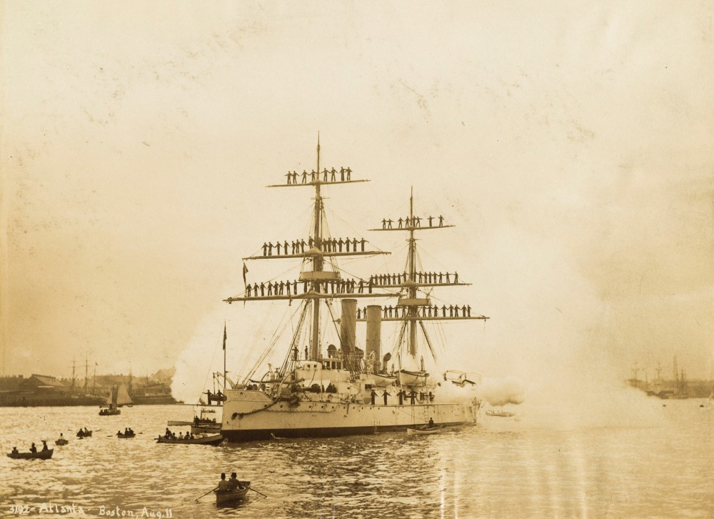 U.S.S. Atlanta in Boston [1890-08-11] [naval ships, Eastern Yacht Club Regatta, 1890]