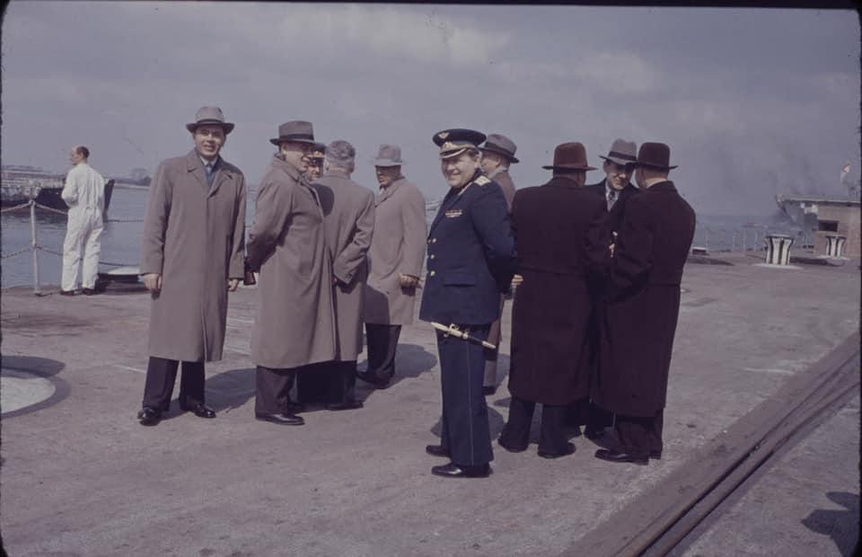 Soviet cruiser Ordzhonikidze (1950) arrives in Portsmouth carrying Nikita Khrushchev & Nikolai Bulganin for a diplomatic mission to Britain in April 1956 15