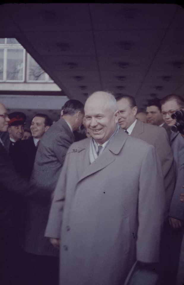 Soviet cruiser Ordzhonikidze (1950) arrives in Portsmouth carrying Nikita Khrushchev & Nikolai Bulganin for a diplomatic mission to Britain in April 1956 17