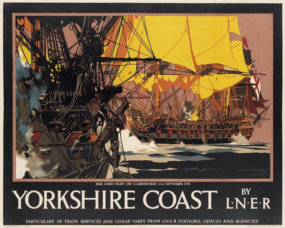 1932, Yorkshire Coast, artist Frank H. Mason (1876-1965)