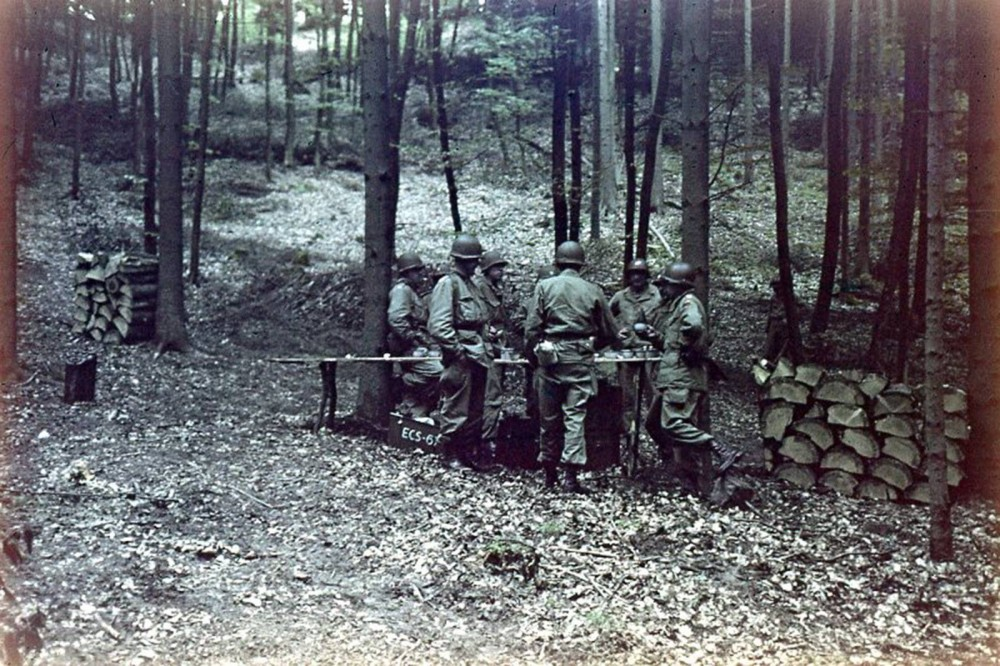 The 2nd Armored Division of the US Army at the end of the War in Germany, 1945