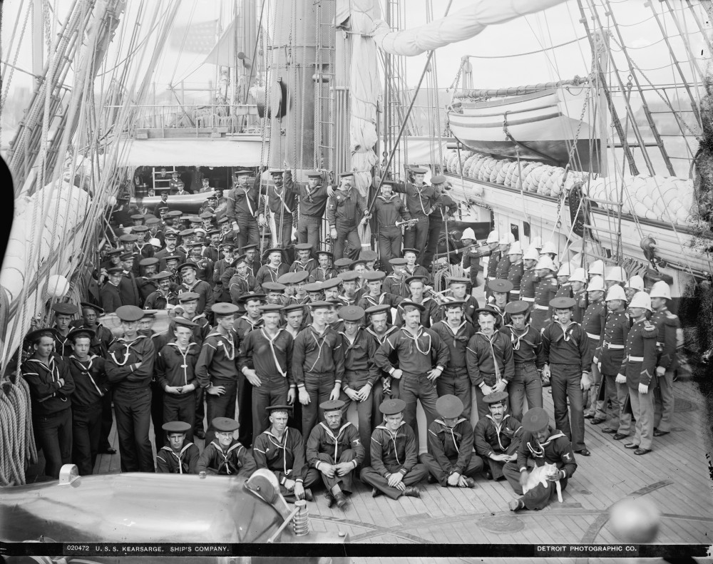 U.S.S. Kearsarge, ship's company (including the ship's cat) 1890-'94