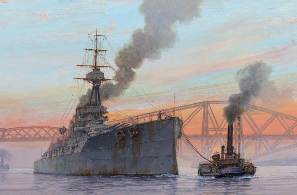 Paul Wright HMS BENBOW ON EXERCISE, 1918