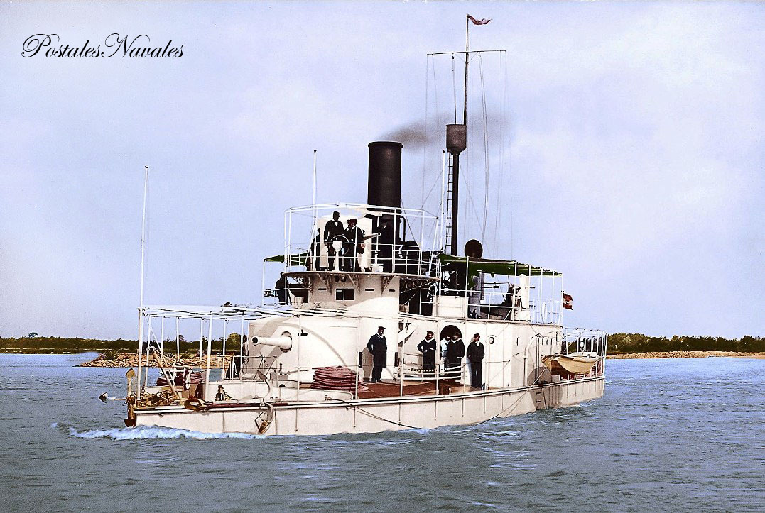 Austro-Hungarian Koros Class River Monitor SMS Szamos pictured c1900