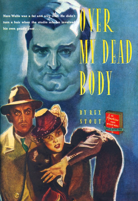 1939 Sept. The American Magazine printing of Over My Dead Body (1940), novel by Rex Stout, illustration by Carl Mueller