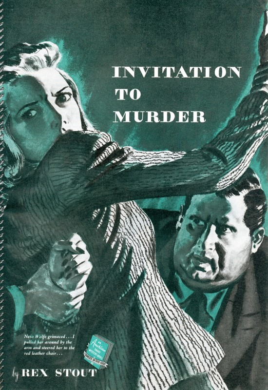 1941 Aug. The American Magazine, printing of Invitation to Murder, story by Rex Stout and was subsequently collected in the book Black Orchids (1942) as Cordially Invited to Meet Death, illustration by Fred Ludekens