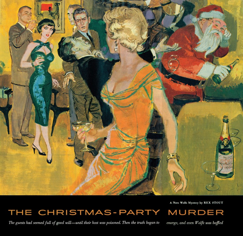 1957 Jan. Collier's, printing of Christmas Party, short story by Rex Stout, illustrator Alex Ross